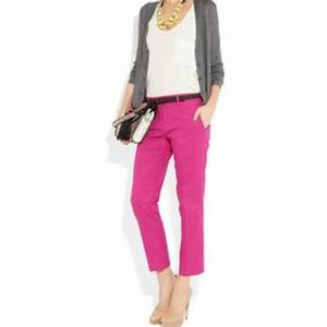White shirt with gray or black cardigan and pink pants. | fashion | Pinterest | Pink Pants ...