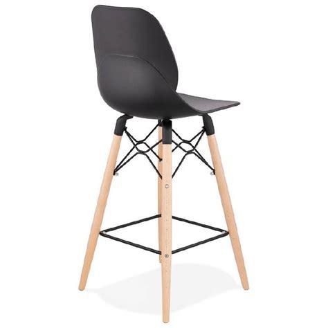 chaise de bar noir tabouret de bar chaise de bar mi hauteur scandinave paco