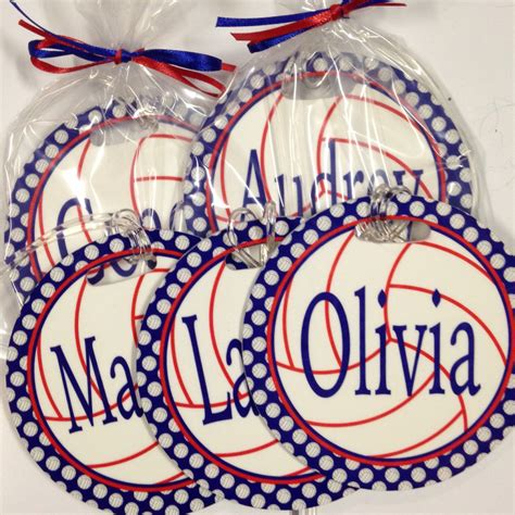 personalized volleyball bag tag perfect volleyball player