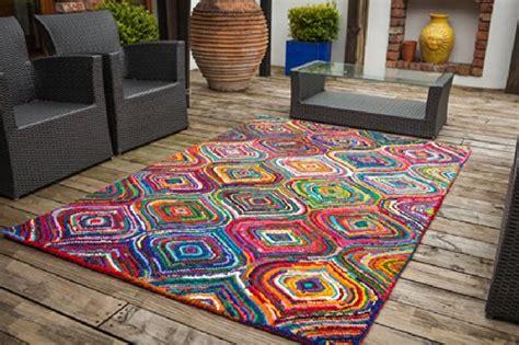 tapis de salon moderne carnivale multicolore  coton