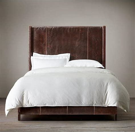 Leather Headboards For King Beds by Low High Back Leather Headboard King Bed