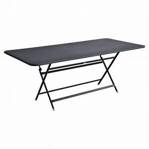 Table Pliante Metal : table pliante caractere fermob rectangulaire ~ Teatrodelosmanantiales.com Idées de Décoration