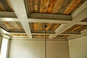 Coffered Ceiling With Rustic Wood Cofferedceiling Rustic
