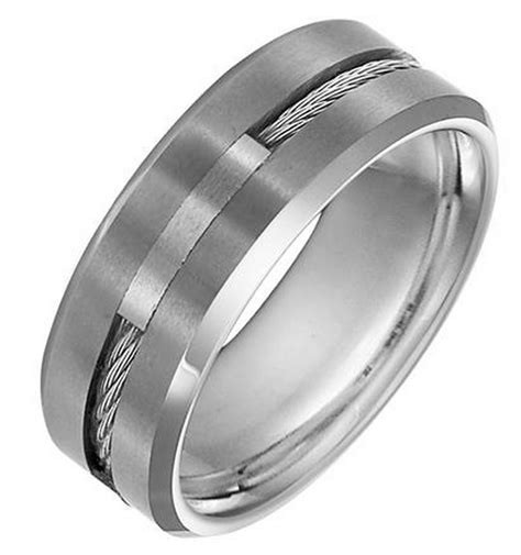 triton 11 3289 cable rope inlay s tungsten carbide wedding ring freedman jewelers