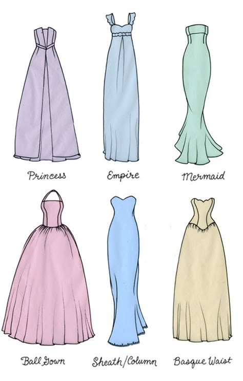 types of wedding dresses different types of wedding dress silhouettes wedding dresses