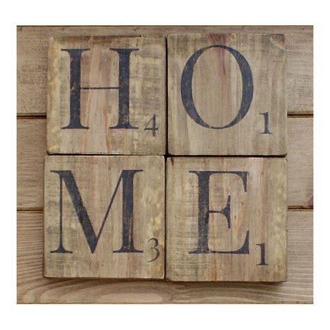 home sign wooden scrabble letterswood wall artreclaimed