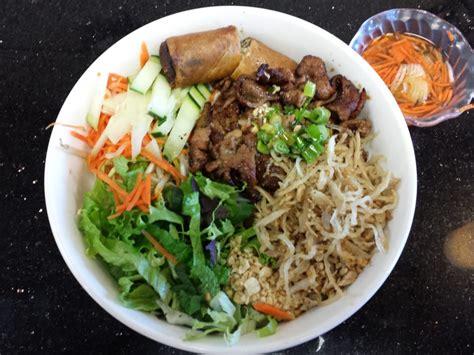 cha garden sf bun bi cha gio thit nuong vermicelli with shredded pork