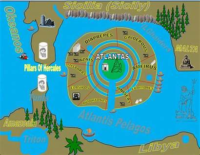 Atlantis Ancient Lost Map History Maps Found