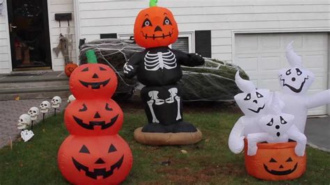 my airblown inflatable and halloween decorations display