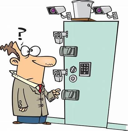Door Locked Clipart Security Lock Cartoon Secure