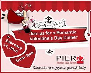 Join Pier 22 for a Romantic Valentine's Day Dinner | PRLog