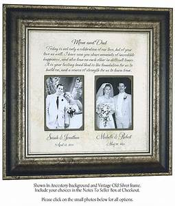 wedding gifts for parents mother of the by photoframeoriginals With gifts for wedding parents