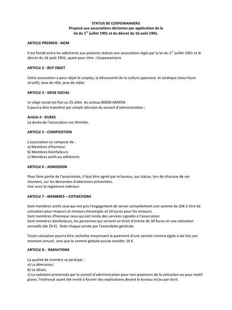 Modification De Statuts Association by Modification D Une Association Modification Des Statuts D