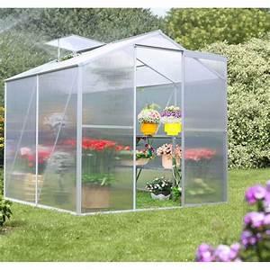 Serre De Jardin Polycarbonate : serre de jardin 2 5m en aluminium et polycarbonate habrita ~ Dailycaller-alerts.com Idées de Décoration