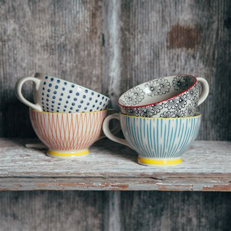 Patterned Jumbo Mug   Relish Decor
