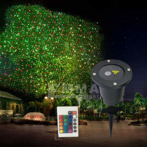 and blue dynamicwaterproof laser light outdoor garden