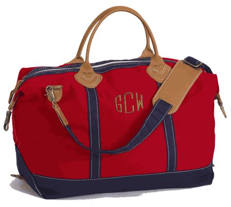 monogram large canvas duffel bag