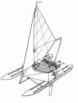 Disegno Katamaran Catamaran Inflatable Cruising Estratto Ru sketch template