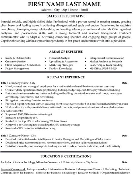 top sales resume templates sles