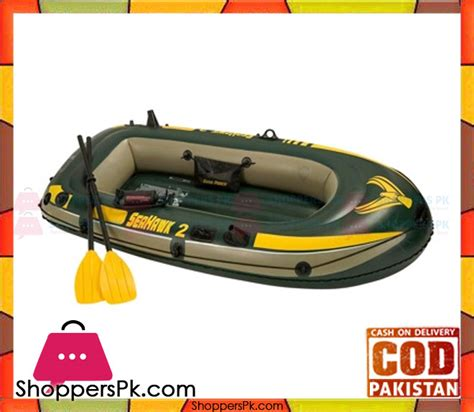 Inflatable Boats For Sale In Pakistan by Buy Intex Inflatable Boat Seahawk 2 Set 236 X114 Cm 68347