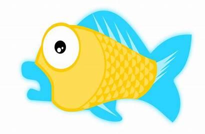 Cartoon Fish Sea Clipart Domain Clip Animals