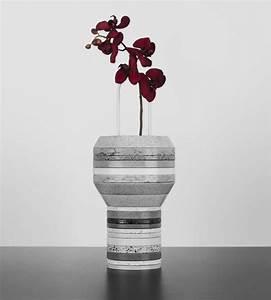 Design Vase : unique vase made of stacked silestone slab slab vases ~ Pilothousefishingboats.com Haus und Dekorationen