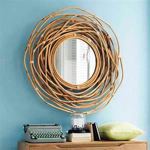 Miroir En Rotin : miroir rond en rotin d 90 cm sumba maisons du monde ~ Nature-et-papiers.com Idées de Décoration