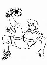 Coloring Soccer Player Printable sketch template