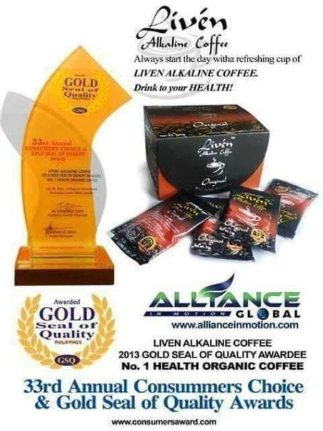 Served hot or cold, this beverage just knocks down all other. ALKALINE LIVEN COFFEE - lhyndelacruz