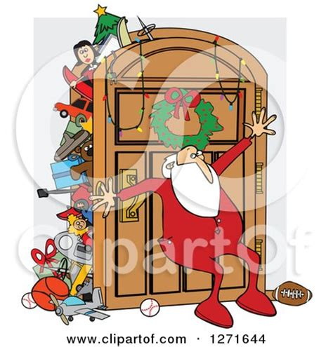 The Closet Santa by Clipart Of A Santa Claus In His Pajamas Leaning Against