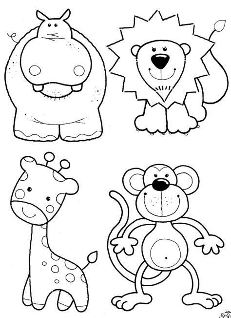 jungle animal coloring pages    print