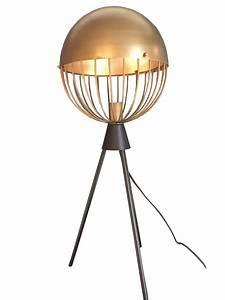 Lampe En Cuivre : lampe poser sph re en cuivre 2 tailles ~ Carolinahurricanesstore.com Idées de Décoration