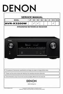 Denon Avr-x3200w A  V Receiver Service Manual