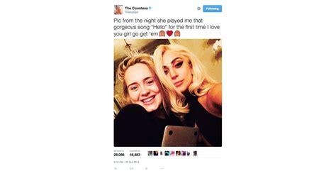 Lady Gaga | Celebrities Reacting to Adele's New Single ...