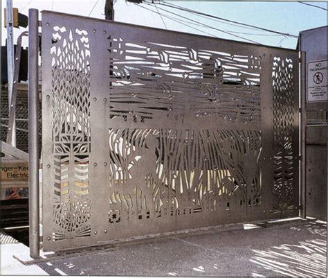 Decorative Metal Fence Panel