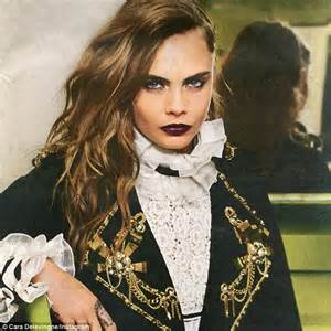 delevingne smoulders  sexy military