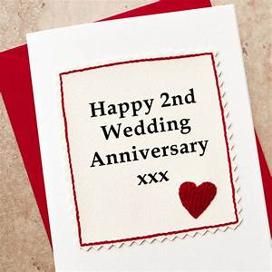 handmade 2nd wedding anniversary card by jenny arnott With 2nd year wedding anniversary