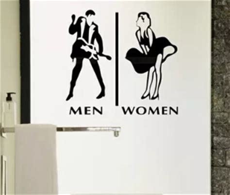 store company toilet man and woman wc sign sticker icon wall sticker in wall stickers from home