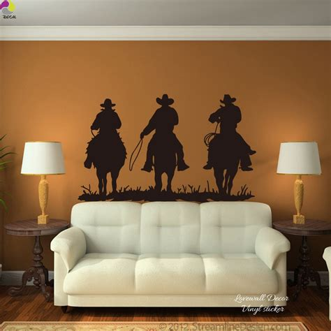 large horse riding wall sticker living room  cowboy