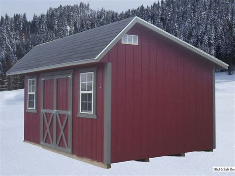 10 X 16 Saltbox Shed Plans by Saltbox Style Sheds By M B Distributed By Amish Buildings
