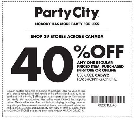 Party city coupons march 2018 not expired