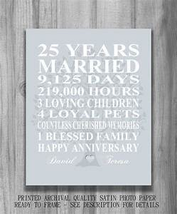 25 best ideas about 25th anniversary gifts on pinterest With 25 wedding anniversary gift