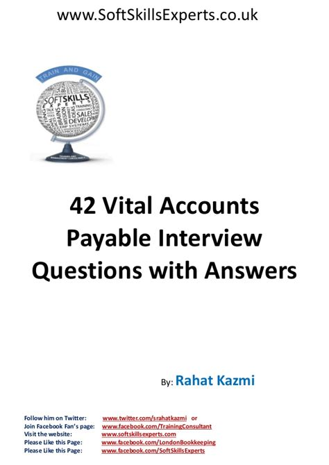 Accounts Payable Questions And Answers For by 42 Accounts Payable Questions And Answers