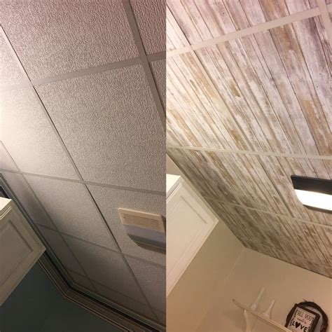 peel and stick ceiling tiles wallpapered drop ceiling update drop ceilings with peel