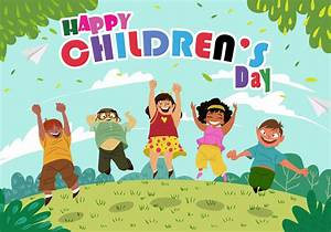 Happy Childrens Day - Download Free Vector Art, Stock ...