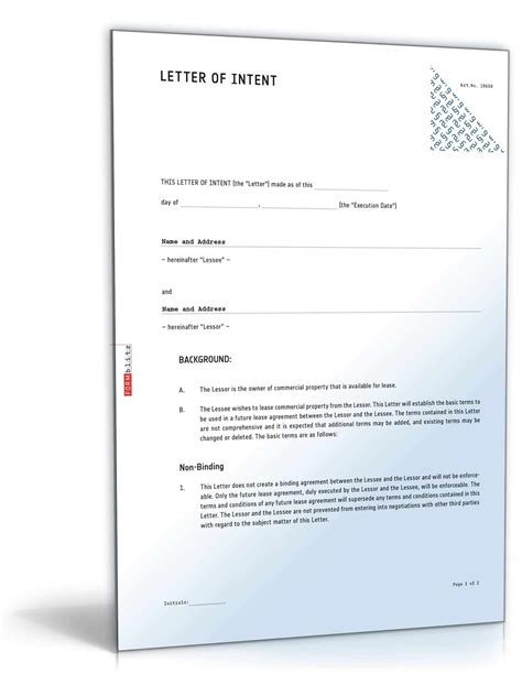 arizona commercial lease letter  intent sample direct
