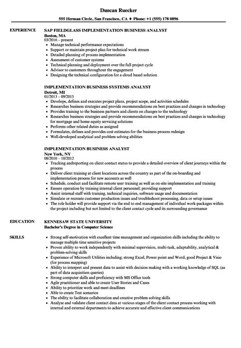 Erp Implementation Resume Sle by Erp Implementation Resume Sle Ideas Resume Ideas