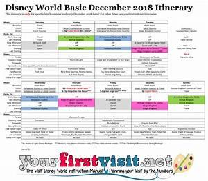 Basic 2018 December Disney World Itinerary
