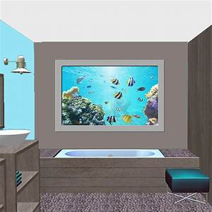 Décoration Murale Salle De Bain : d co murale piscine spa salle de bain hublot petit bleu ~ Teatrodelosmanantiales.com Idées de Décoration