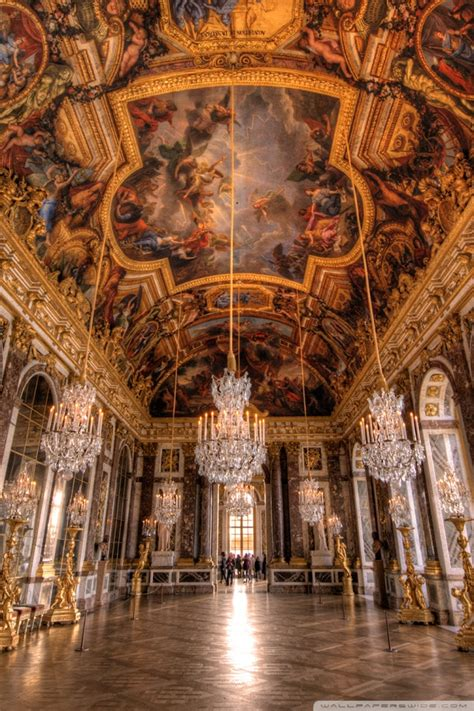 palace  versailles hall  mirrors  hd desktop